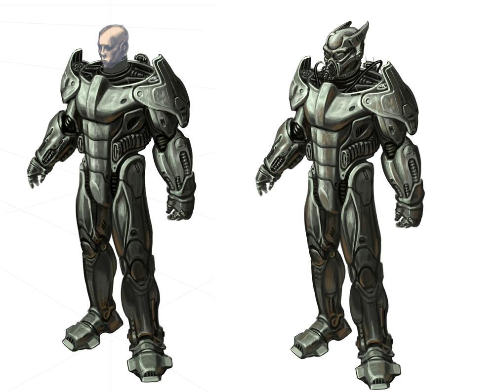 Enclave Power Armor Concept Art By Hamburgercranium