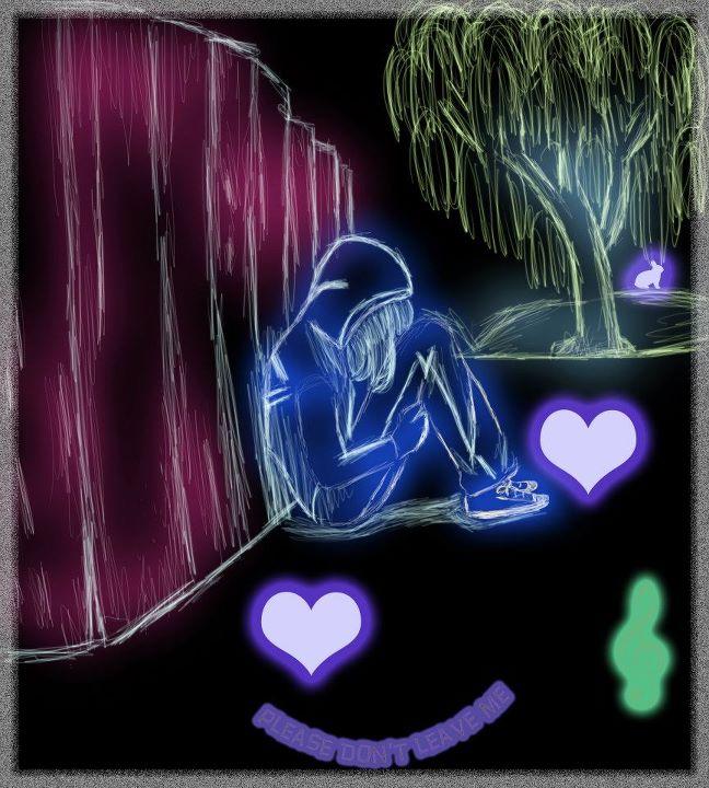 NOT BY ME- Read desc. Neon Drawing by 7SevenTears7 on DeviantArt