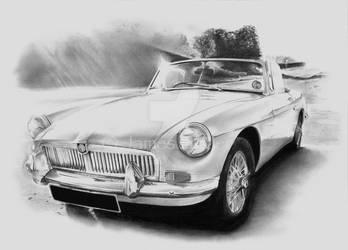 MGB Roadster II by Jimtheartist