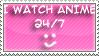 Anime 24-7 stamp