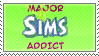 Major Sims Addict Stamp by Miho-Nosaka-stamps