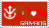 Saiyans stamp by Miho-Nosaka-stamps