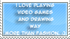 Video Games and drawing stamp by Miho-Nosaka-stamps