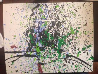 Gridded splatterpaint