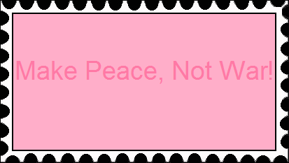 Make Peace Stamp by RedqueenAllison
