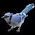 Blue Jay-Bird icon by RedqueenAllison
