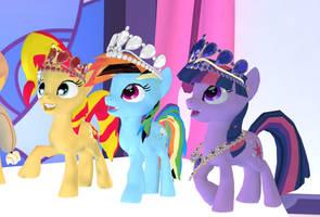 MLP - Queen Ponies!  [Poser] by Naduron0