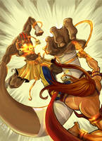 Street Fighter Dhalsim Vs Vega by Arzuza
