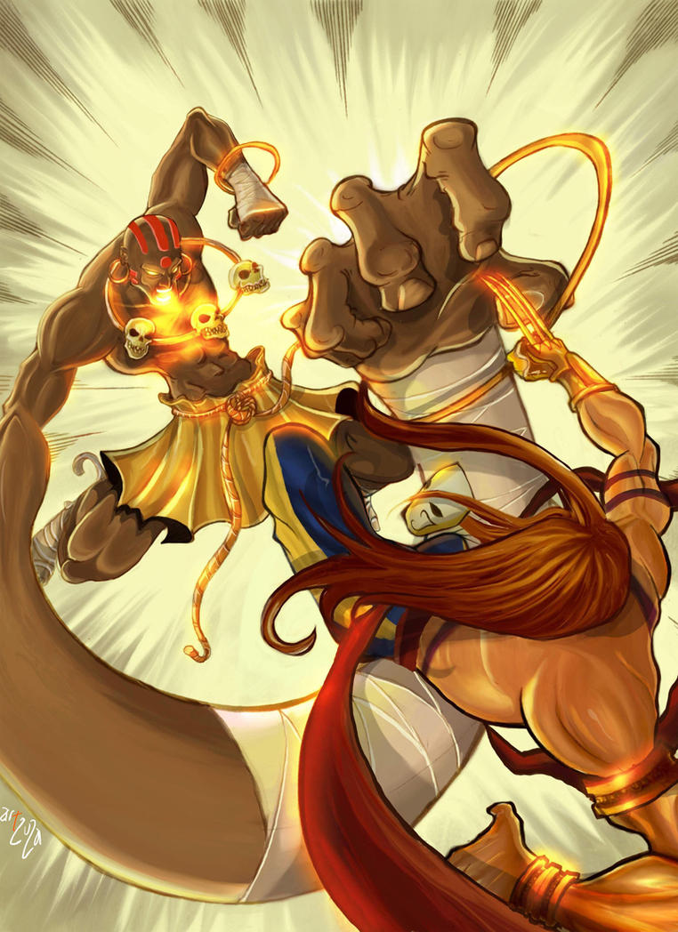 Street Fighter Dhalsim Vs Vega by Arzuza