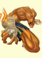 Street Fighter Sagat unfinish by Arzuza
