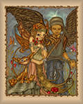 Fairy and angel and cat