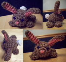 Crochet Bunny by MadGoblin