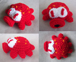 Red Octorok Amigurumi by MadGoblin