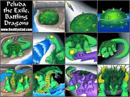 Battling Dragons' Peluda by MadGoblin