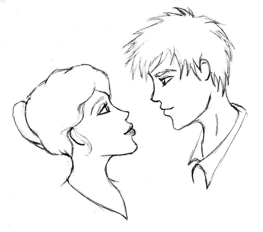 Cute couple sketch by MarissaWalker on DeviantArt