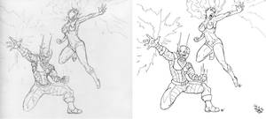 Flame and Wildfire Pencils to Ink