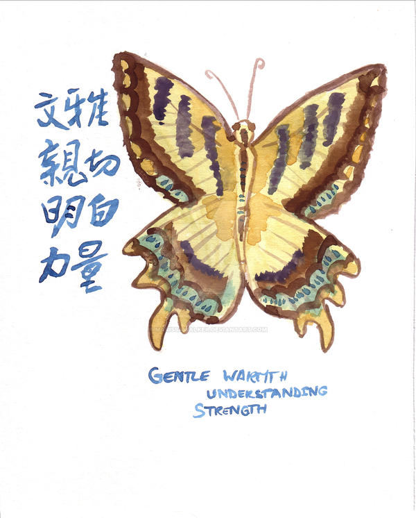 Butterfly Calligraphy by MarissaWalker