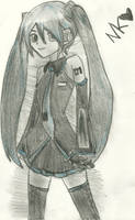hatsune miku by nekokitty54321