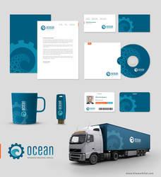 OCEAN Corporate identity by khawarbilal