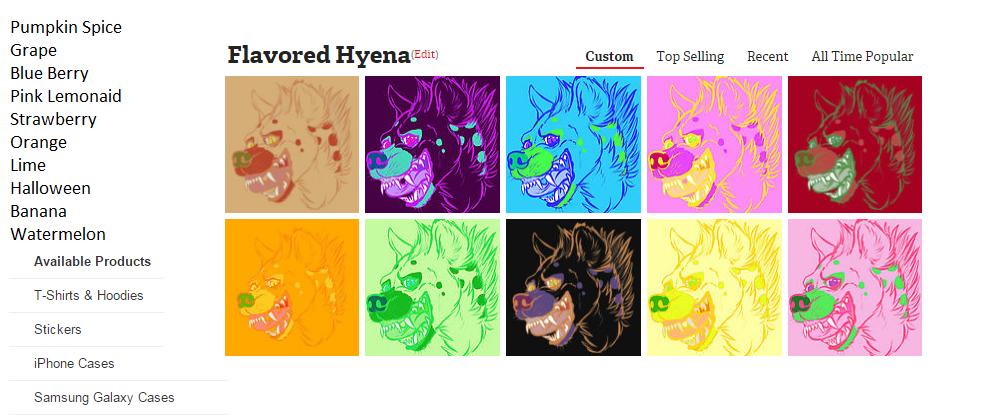 Flavored hyena by hisui-hyena