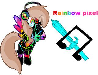 Rainbow Pixel by liny12345