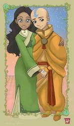 Aang and Katara FINALE by Yunyin