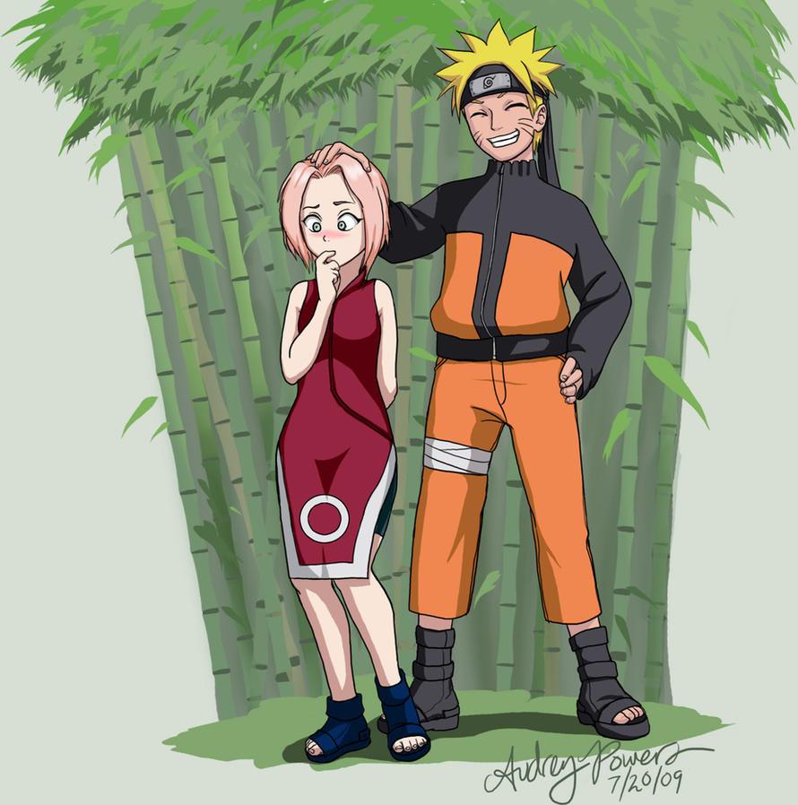 Little Sakura and Naruto by Yunyin