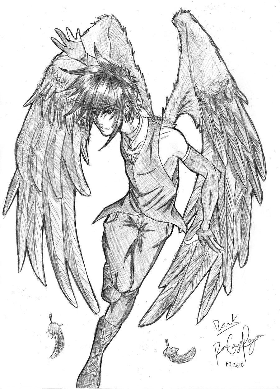 Dark Angel Drawings Sketch Coloring