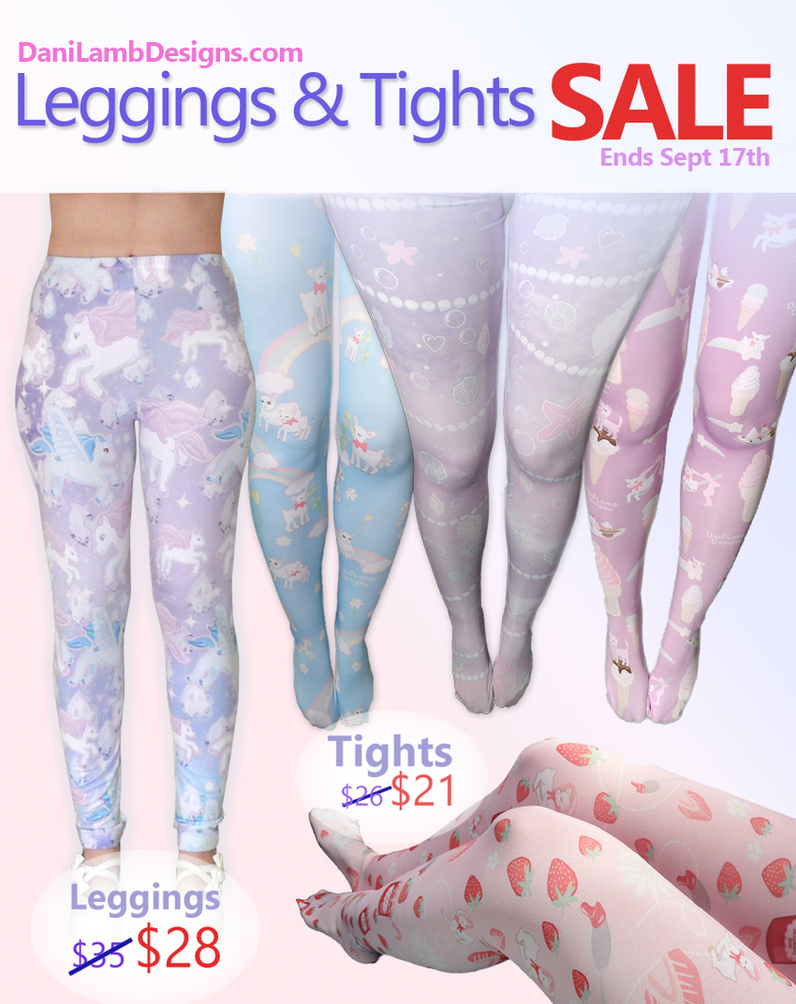 Pastel Fairy Kei Tights and Leggings Sale by ShyDaniLamb