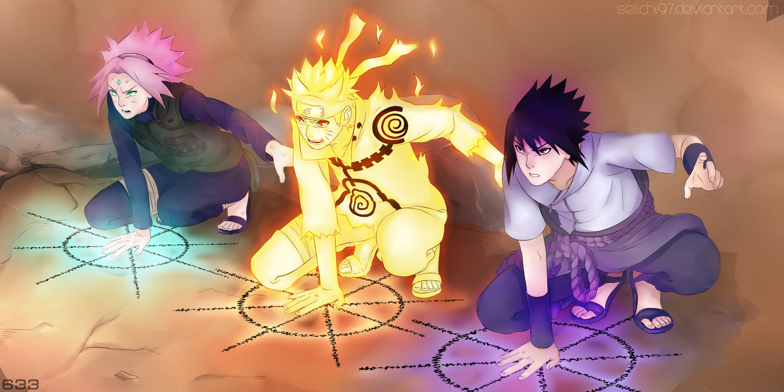 Naruto: Another Story About Road to Ninja -Introducción- 633___team_7__color__by_seiichi97-d68wr49