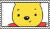 Kawaii Winnie The Pooh Stamp by allivegotarerainbows
