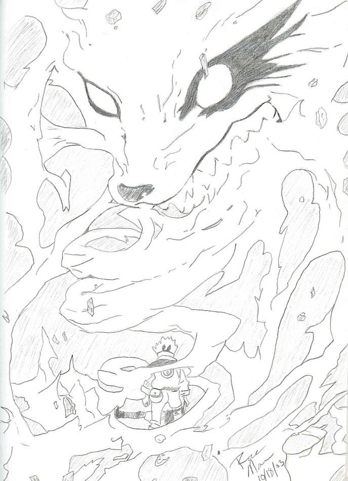 Anime Nine Tail Fox Coloring Pages Nine Tailed Fox Coloring Pages