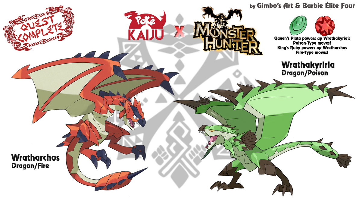 Pokemon X Monster Hunter Feat Barbie Elite Four By Gimbo