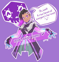 An Overwatch fanart - Sombra Highlight by gimbo-gp