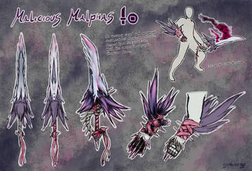 MHWorld - Malicious Malphas Sword and Shield by gimbo-gp