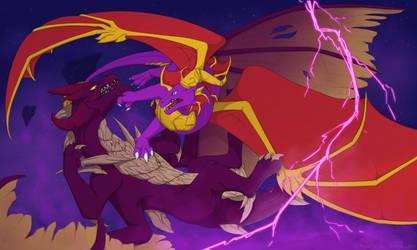 Sunny Flight: Purple fight by RusCSI
