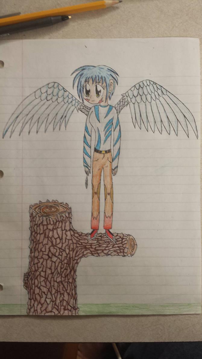 Wing Girl (updated) by anime-matt