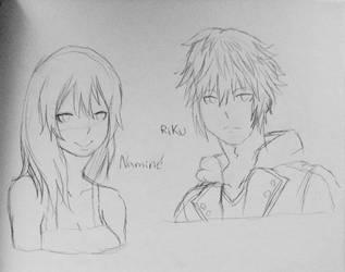 Riku and Namine by WritingwithHearts