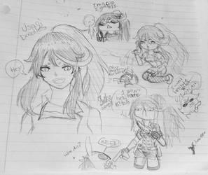Usagi Toka Doodles  by WritingwithHearts