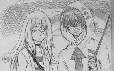 AOD: Rachel and Zack (sketch) by WritingwithHearts