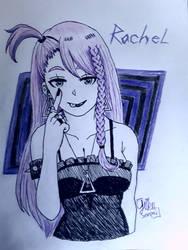Rachel (OC) Goth girl  by WritingwithHearts
