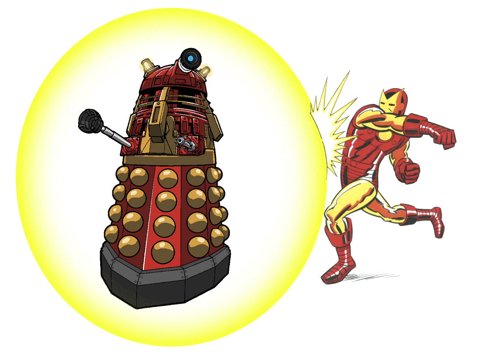 ironman vs dalek supremo by alkan009