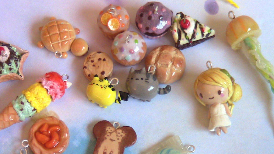 Polymer Clay Charms by Jellyfishcharms
