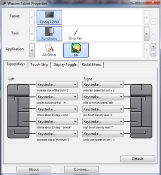 Wacom SAI Settings - Shortcuts by maszeq