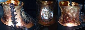 Steampunk Neck Corset by MirabellaTook