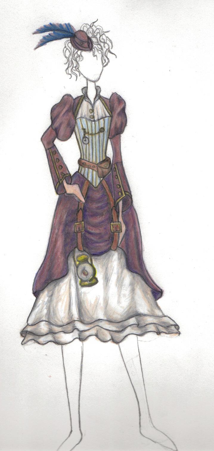 Steampunk Costume Design WIP by MirabellaTook on DeviantArt