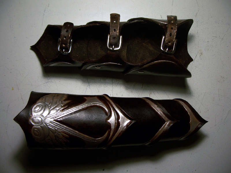 Assassins Creed Leather Bracers by MirabellaTook