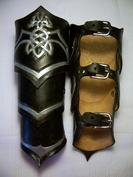 Celtic Dragon Bracers by MirabellaTook