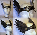 Black and Silver Celtic Winged Valkyrie Circlet