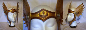 Leather Winged Valkyrie Circlet Helmet by MirabellaTook
